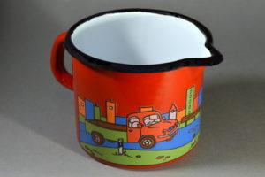 0,6 literes piros autós füles tejkiöntő