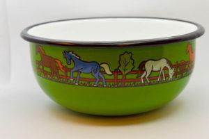 Zöld lovas müzlistányér